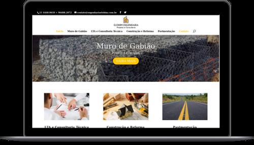 Site de cliente desenvolvido com tecnologia moderna